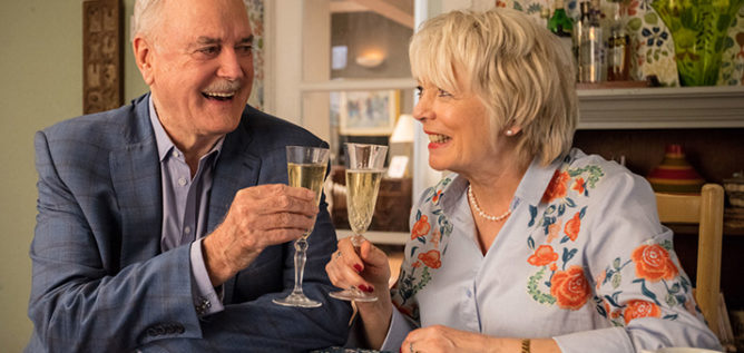 John Cleese and Alison Steadman headline a stellar cast in Hold The Sunset.