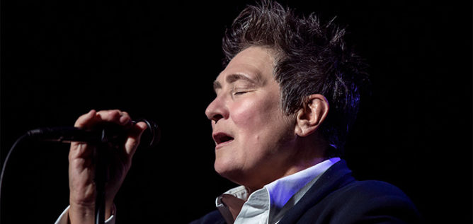 Singer-songwriter k.d. lang performing at the Majestic Theater in San Antonio, TX