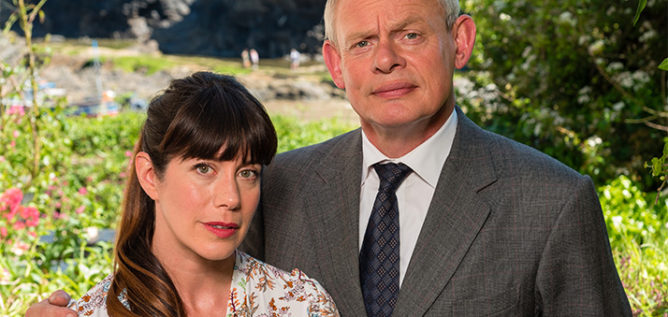 Louisa (Caroline Catz) and Dr. Martin Ellingham (Martin Clunes) return for season 8 of Doc Martin.