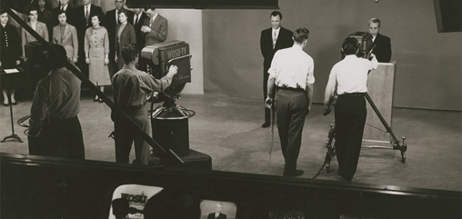 WOSU TV's first broadcast on February 20, 1963.