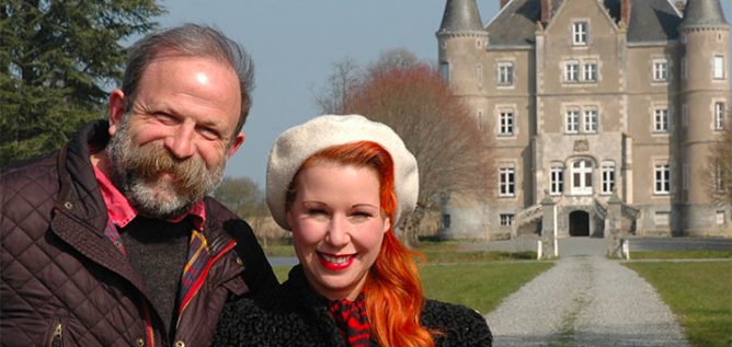 Escape To The Chateau with the Strawbridge family in front of the chateau.