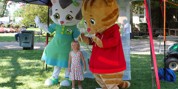 Katerina Kittycat and Daniel Tiger at WOSU Kids Day at the Ohio State Fair