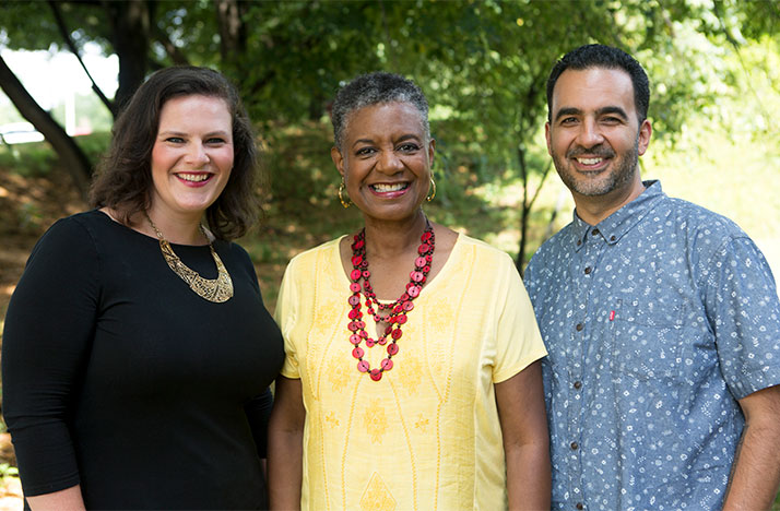 Broad & High hosted by Kate Quickel (left) and Columbus Neighborhoods hosted by Charlene Brown (center) and Javier Sanchez return with new episodes starting October 3 at 8pm on WOSU TV.