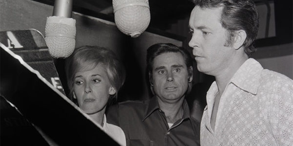 Tammy Wynette and George Jones with producer Billy Sherrill, 1971.