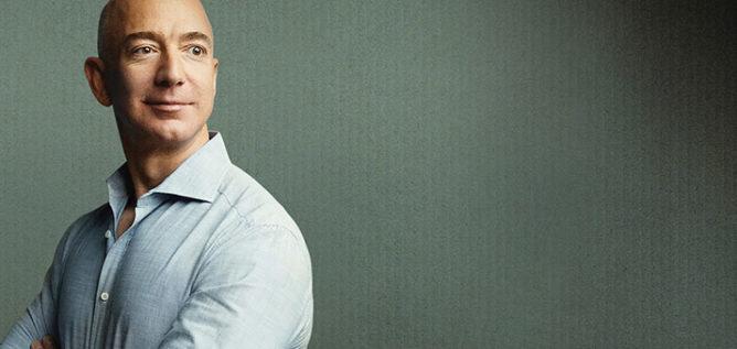 Amazon.com Founder and CEO, Jeff Bezos. - Courtesy of Wesley Mann/AUGUST Image, LLC.; Background image: iStock.com
