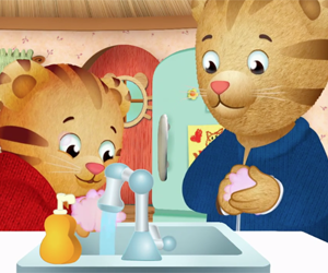 Daniel the tiger washing hands