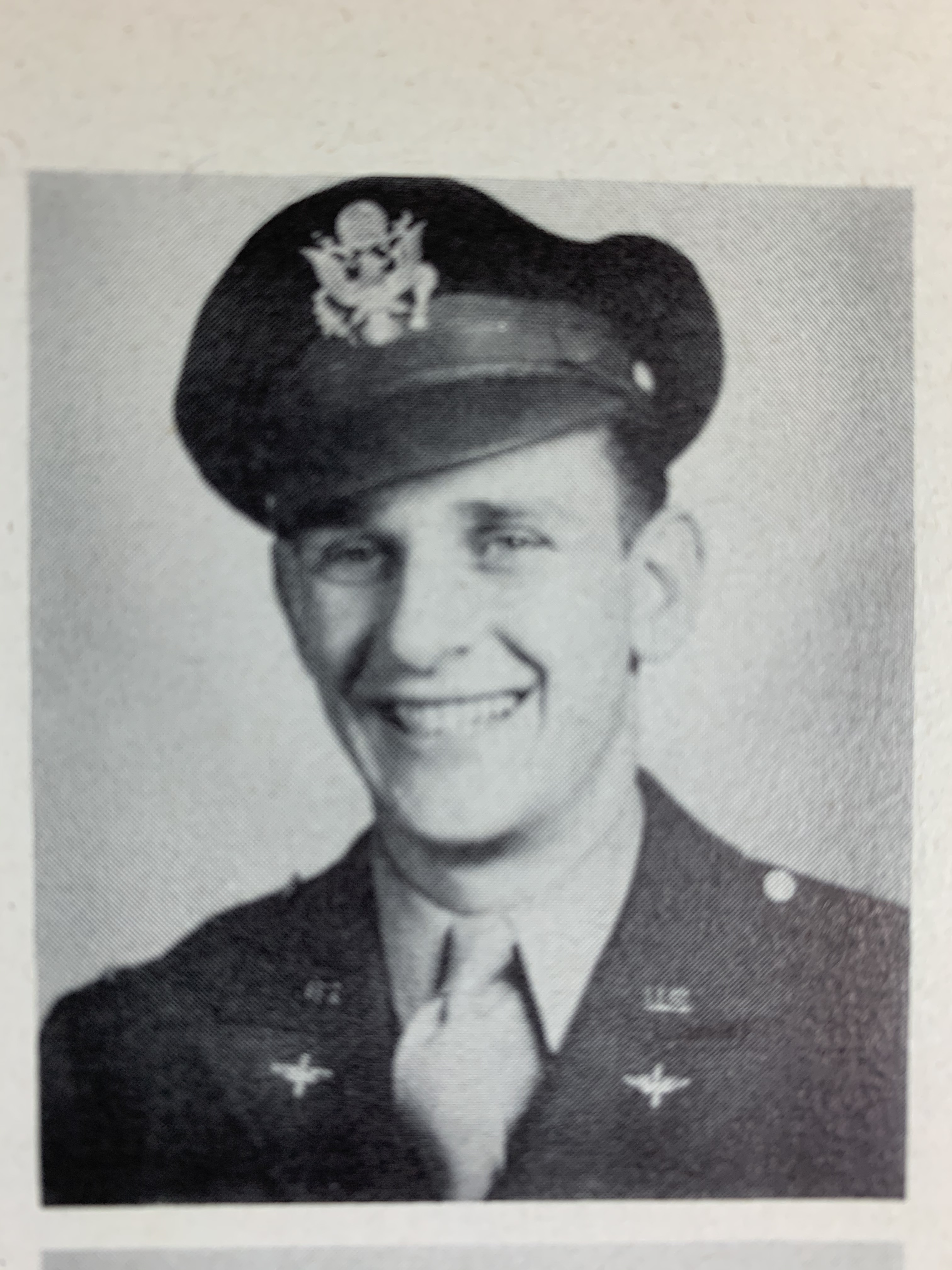 Stewart Malquist graduating with his wings in June 1944.