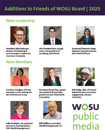 Additions to Friends of WOSU Board | 2020