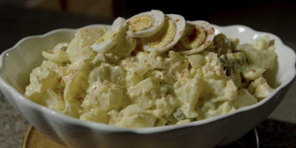A bowl of Nellie's Potato Salad