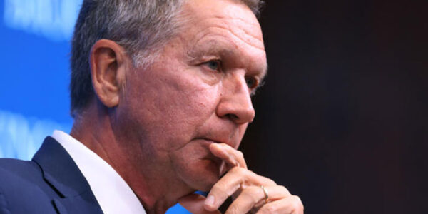 """Ohio Gov. John Kasich, pictured in October 2018 in Washington, D.C., tells NPR that Trump's refusal to concede is """"absurd."""" CHIP SOMODEVILLA / GETTY IMAGES"""