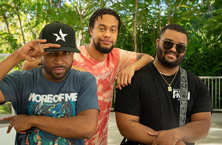 Members of Kashis Keyz from left to right Kashis Keyz, DJ Astro, Rizo