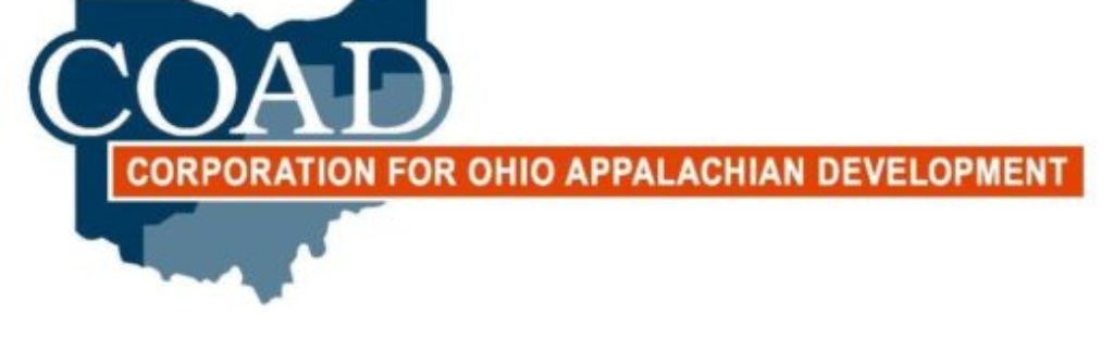 Corporation for Ohio Appalachian Development logo. Click this image to be redirected to their website.